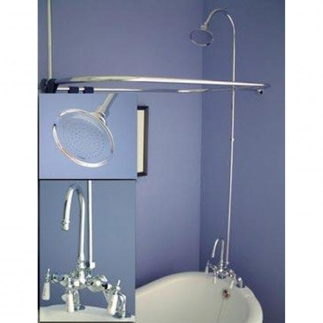 Marvelous Clawfoot Tub Shower Conversion Kit Converting Clawfoot Tub Shower Kit Home Decor Inspirations