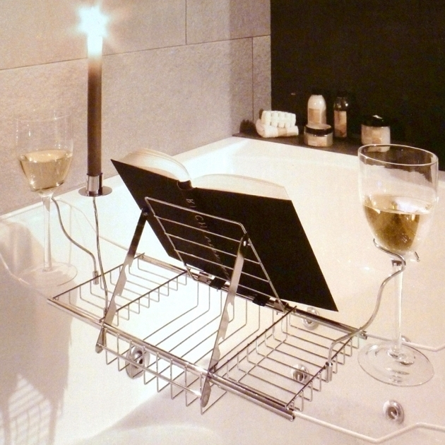Picture of Bathtub Book Holder Bathroom Bath Tub Wine Glass Holder Bathtub Wine Holder Tub