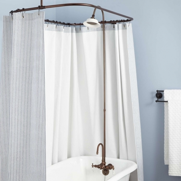 Picture of Clawfoot Tub Shower Conversion Kit Gooseneck Clawfoot Tub Shower Conversion Kit Bathroom