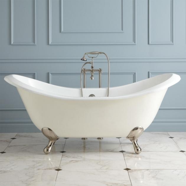 Picture of Double Slipper Clawfoot Tub 71 Gretta Cast Iron Double Slipper Clawfoot Tub Bathroom