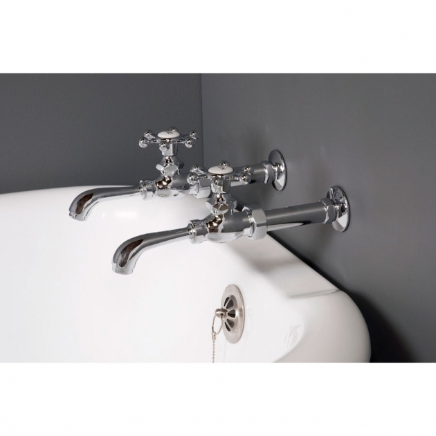 Picture of Faucets For Clawfoot Tubs Strom Plumbing Bathroom Wall Mount Clawfoot Tub Faucet With Holder
