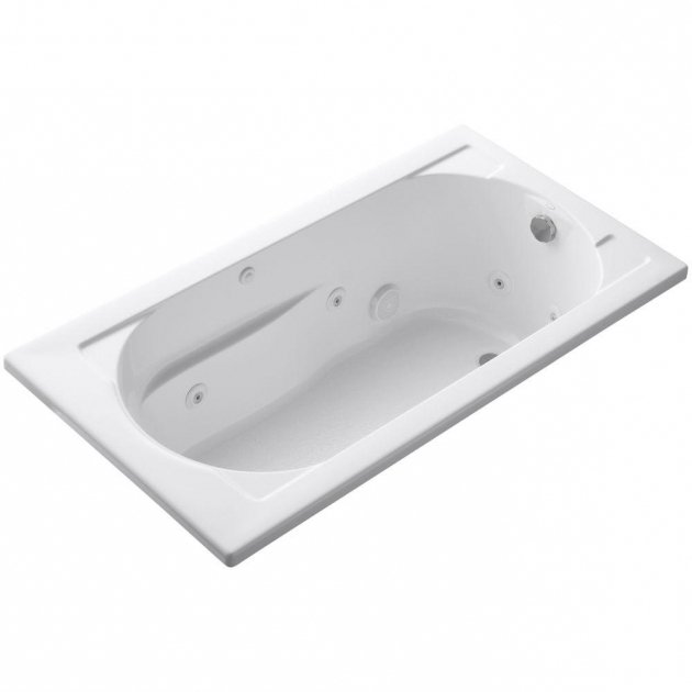 Picture of Kohler Whirlpool Tubs Kohler Devonshire 5 Ft Whirlpool Tub With Reversible Drain In