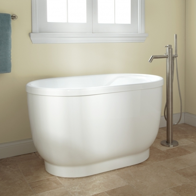 Remarkable 48 Inch Soaking Tub Pelion Acrylic Freestanding Tub Bathroom