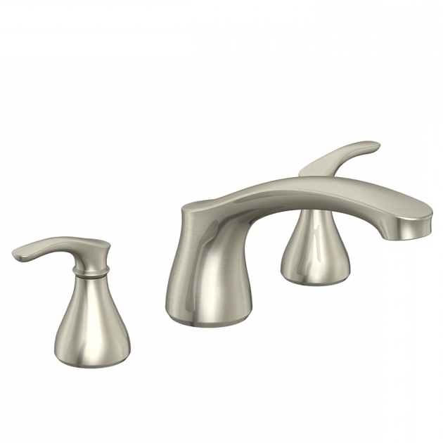 Remarkable Lowes Bathtub Faucets Shop Aquasource Garner Brushed Nickel 2 Handle Adjustable Deck