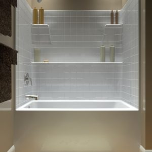 One Piece Bathtub Shower Combo