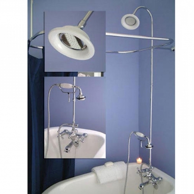 Stunning Clawfoot Tub Shower Conversion Kit Clawfoot Tub Shower Curtain Improvement Increase Room In Claw
