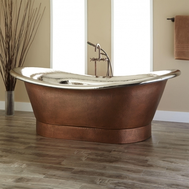 Stunning Galvanized Soaking Tub Oval Bathtub Signature Hardware