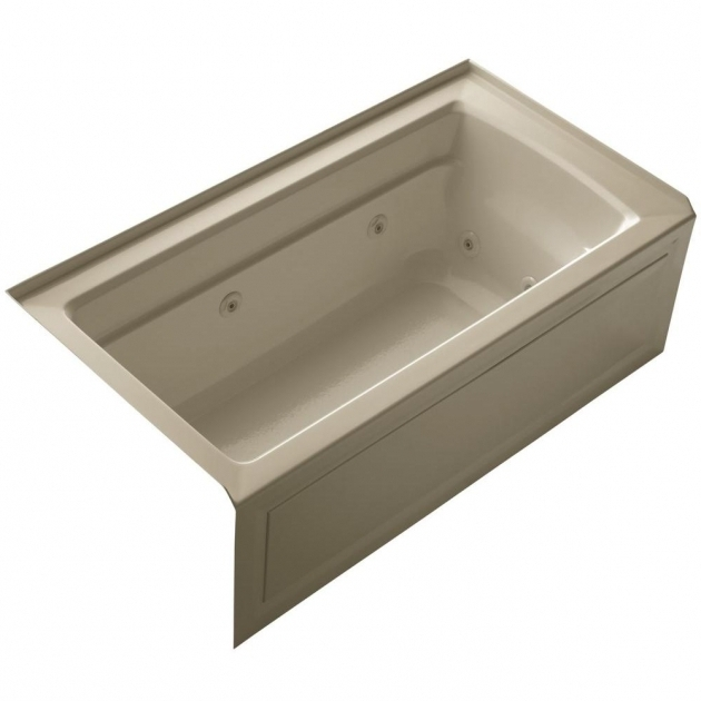 Stylish Alcove Whirlpool Tub Kohler Archer 5 Ft Acrylic Right Drain Rectangular Alcove