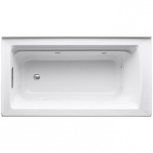Wonderful Alcove Whirlpool Tub Kohler Archer 5 Ft Acrylic Right Drain Rectangular Alcove