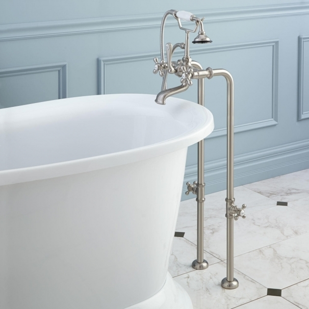 Alluring Clawfoot Tub Fixtures How To Care Cast Iron Clawfoot Tub Faucet The Homy Design