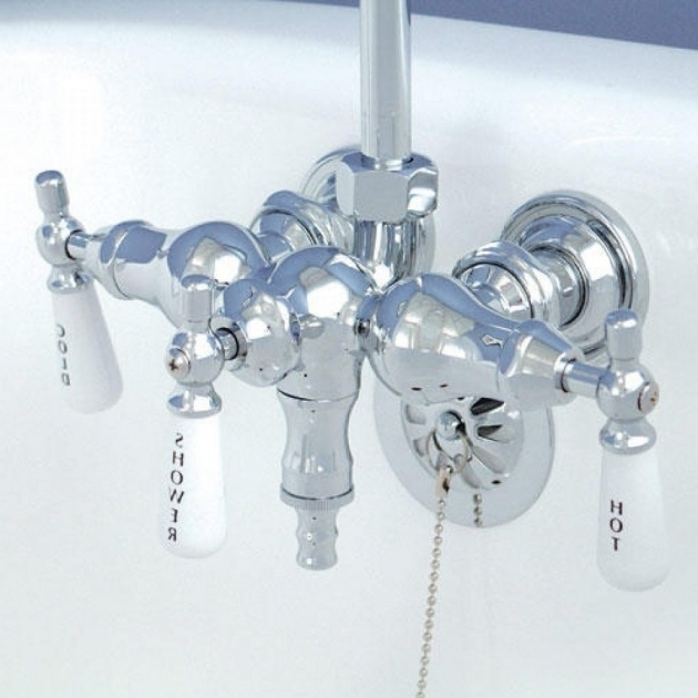 Alluring Clawfoot Tub Shower Attachment Shower Head Attachment Showers Decoration