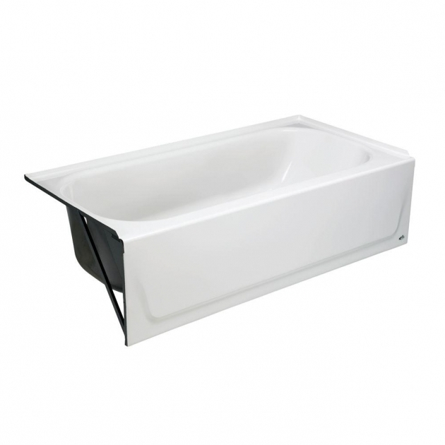 Awesome 58 Inch Bathtub Bootz Industries Maui 5 Ft Left Drain Soaking Tub In White 011