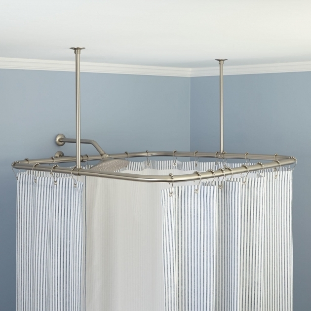 Awesome Ceiling Mount Shower Curtain Rod Clawfoot Tub Simple Shower Curtain Rod Ideas Rods Baskets And Hooks Made For