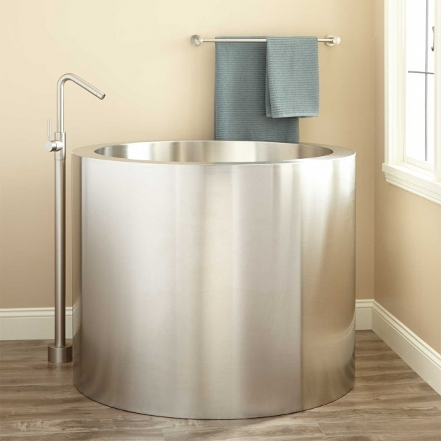 Awesome Japanese Soak Tub 43 Simone Brushed Stainless Steel Soaking Tub Bathroom