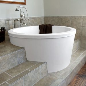 Small Deep Soaking Tub