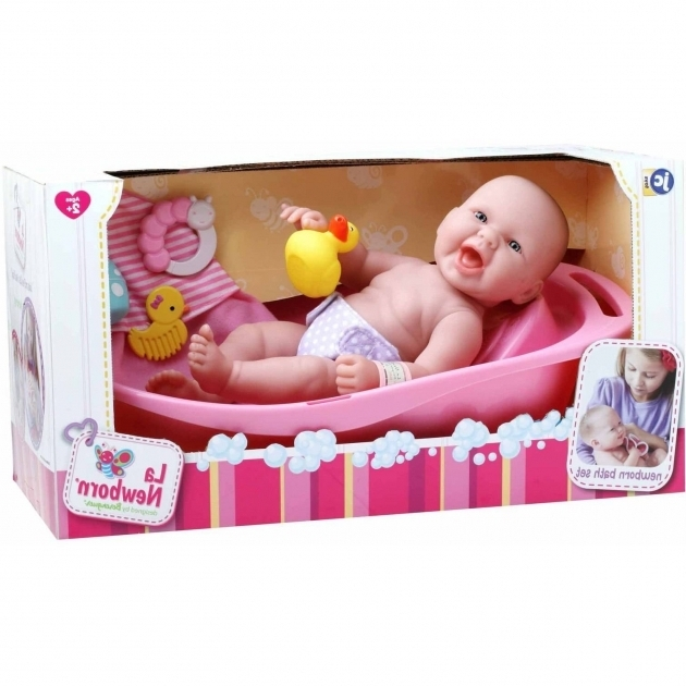 Fascinating Baby Doll For Bathtub La Newborn Realistic Ba Doll Bathtub Set Walmart