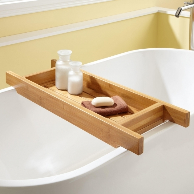 Fascinating Clawfoot Tub Caddy 33 Hancock Bamboo Tub Caddy Bathroom