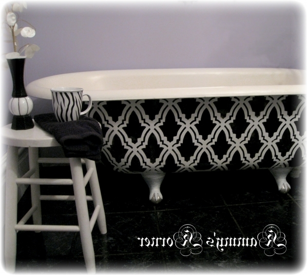 Fascinating How To Refinish A Clawfoot Tub Kammys Korner Diy Clawfoot Bathtub Refinish For 25