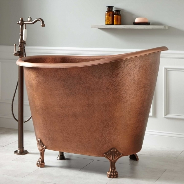 Image of 48 Clawfoot Tub 49 Abbey Copper Slipper Clawfoot Soaking Tub Bathroom