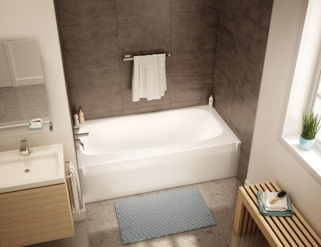 Image of Alcove Soaking Tub To 3060 Alcove Bathtubs Aker Maax