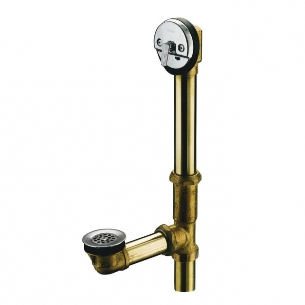Image of Bathtub Drain Assembly Swiftflo 1 12 In Adjustable Trip Lever Drain In Polished Chrome