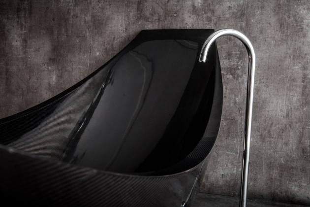 Image of Carbon Fiber Bathtub Suspended Carbon Fiber Bath Vessel Splinter Works