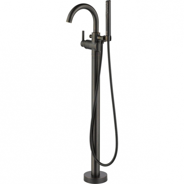 Image of Clawfoot Tub Faucet Floor Mount Bronze Claw Foot Tub Faucets Bathtub Faucets The Home Depot