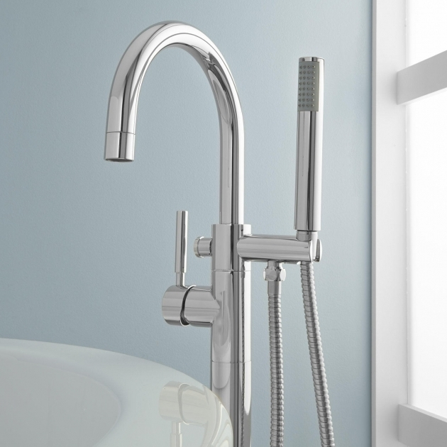 Incredible Bathtub Faucet With Handheld Shower Simoni Freestanding Tub Faucet And Hand Shower Bathroom