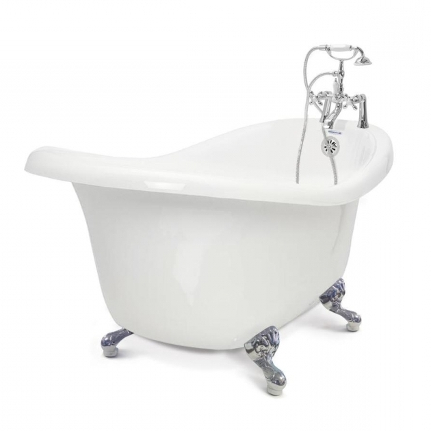 Incredible Clawfoot Tub Lowes Shop American Bath Factory Chelsea 60 In White Acrylic Clawfoot