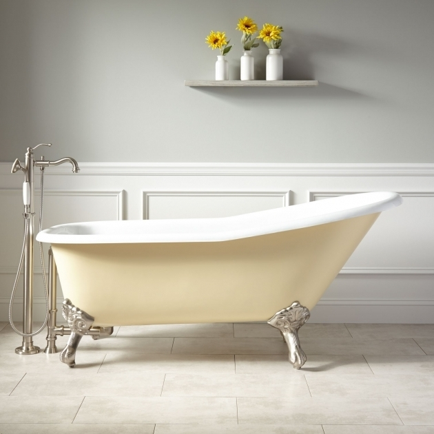 Incredible Colored Clawfoot Tub 66 Goodwin Cast Iron Clawfoot Tub Imperial Feet Light Yellow