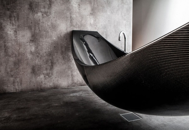 Inspiring Carbon Fiber Bathtub Vessel Hammock Shaped Bathtub Splinterworks