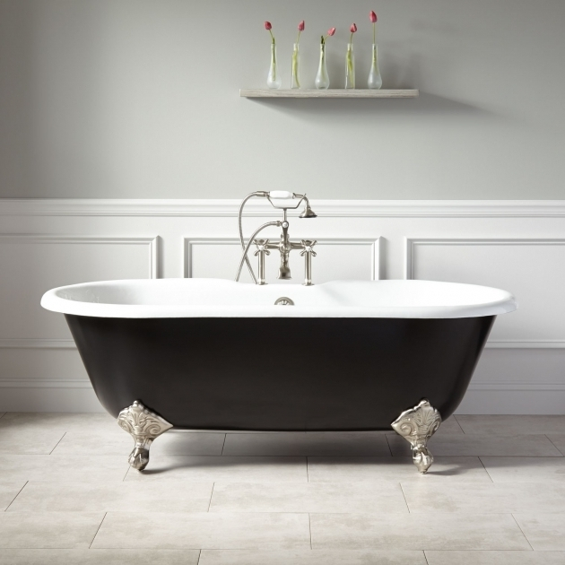Inspiring Colored Clawfoot Tub 66 Sanford Cast Iron Clawfoot Tub Imperial Feet Black Bathroom