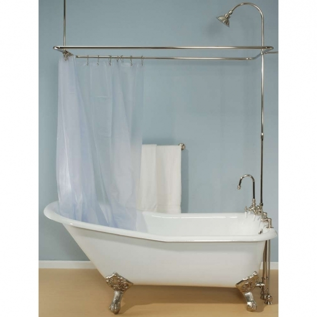 Inspiring Used Clawfoot Tub Shower Kit Clawfoot Tub Shower Kits