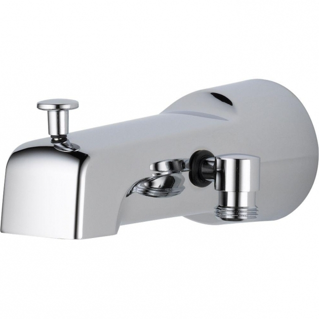 Marvelous Bathtub Faucet With Handheld Shower Delta 65 In Long Pull Up Diverter Tub Spout In Chrome U1010 Pk