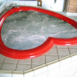 Heart Shaped Bathtub