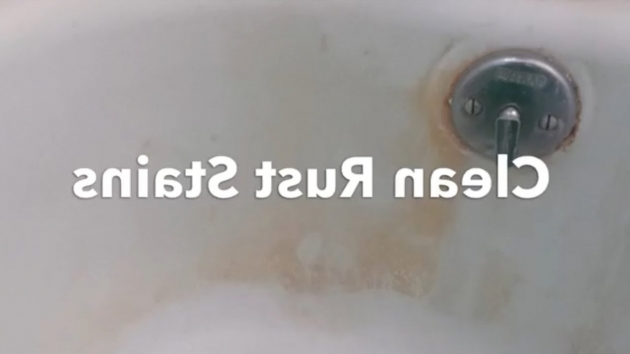Marvelous Remove Rust From Bathtub How To Clean A Bathtub Remove Rust And Hard Water Stains With Bar