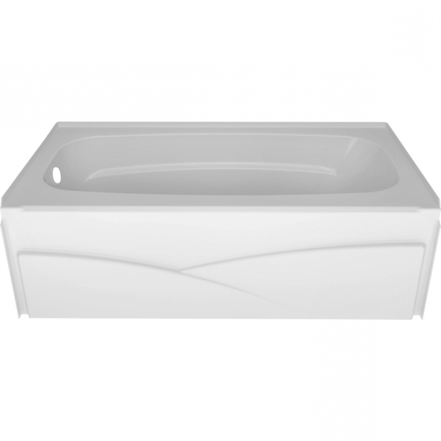 Outstanding Delta Bathtubs Shop Delta Laurel 32 In High Gloss White Acrylic Alcove Bathtub