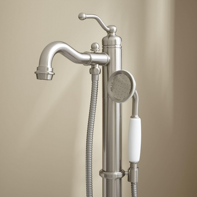 Picture of Bathtub Faucet With Handheld Shower Leta Freestanding Tub Faucet With Hand Shower Bathroom