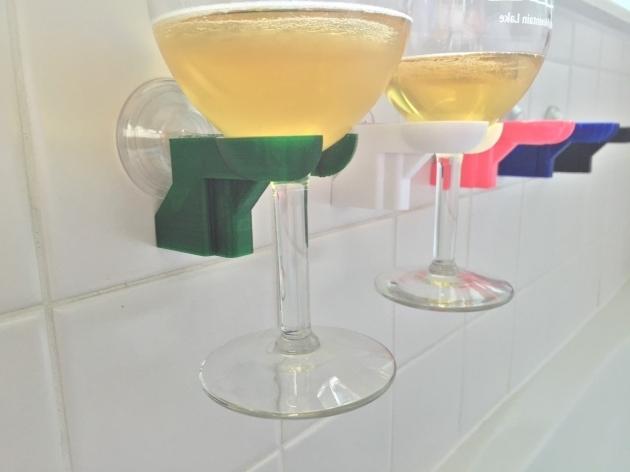 Picture of Bathtub Wine Glass Holder Bathtub Shower Wine Glass Holder Pick Your Color 3d