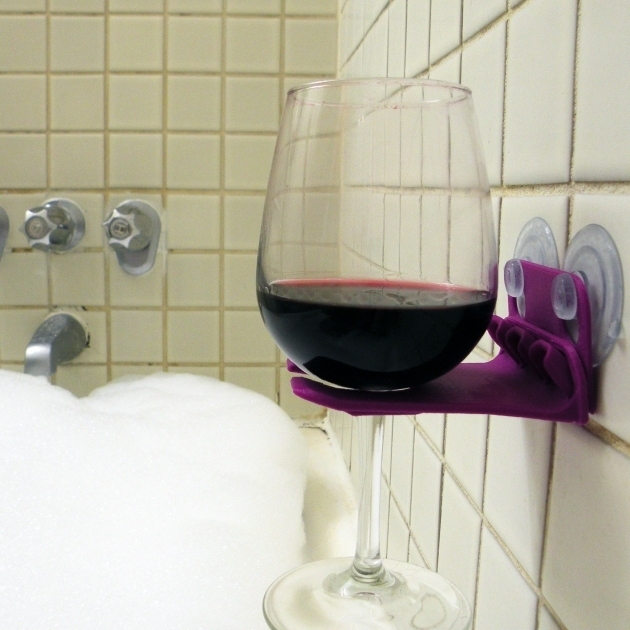 Picture of Bathtub Wine Glass Holder Wine Holder For Bathtub 1 Digital Imagery For Wine Glass Holder