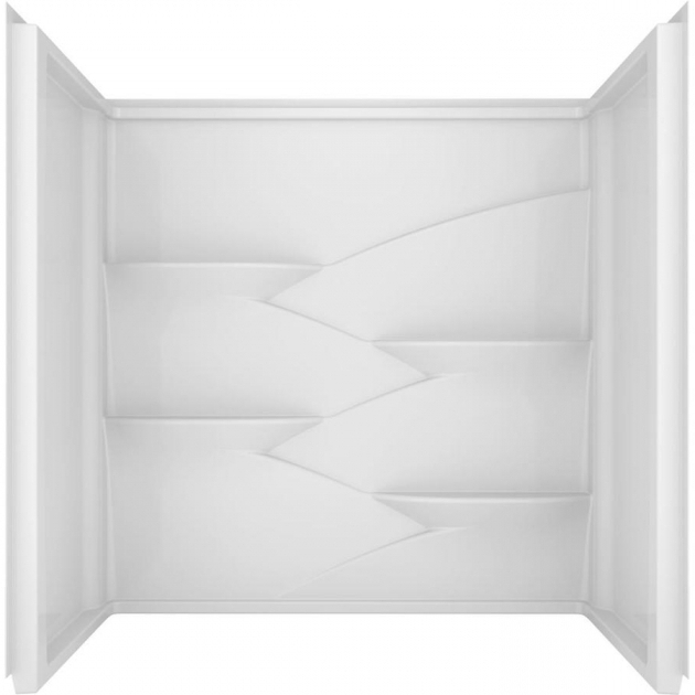 Picture of Delta Bathtubs Shop Delta Laurel High Gloss White Acrylic Bathtub Wall Surround