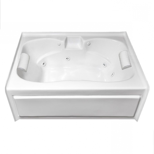 Picture of Two Person Whirlpool Tub Shop Laurel Mountain Alcove Plus 5975 In White Acrylic Skirted