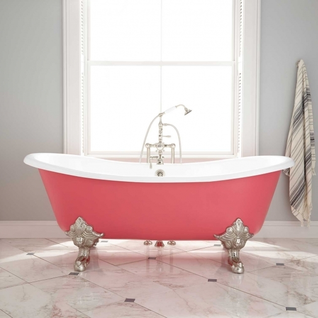 Stunning Colored Clawfoot Tub Red Clawfoot Bathtubs Beautiful Red Claw Foot Bathtub 14 For With