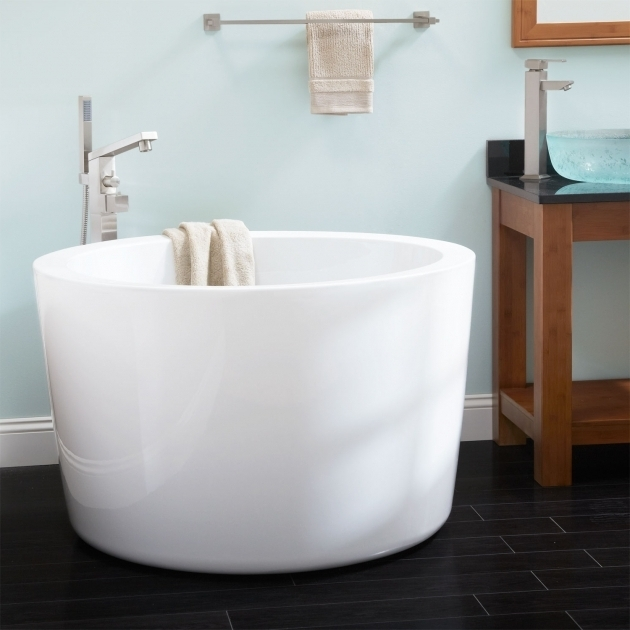 Stylish Japanese Soaking Tub For Sale Signature Hardware 41 Siglo Round Japanese Soaking Tub No Faucet