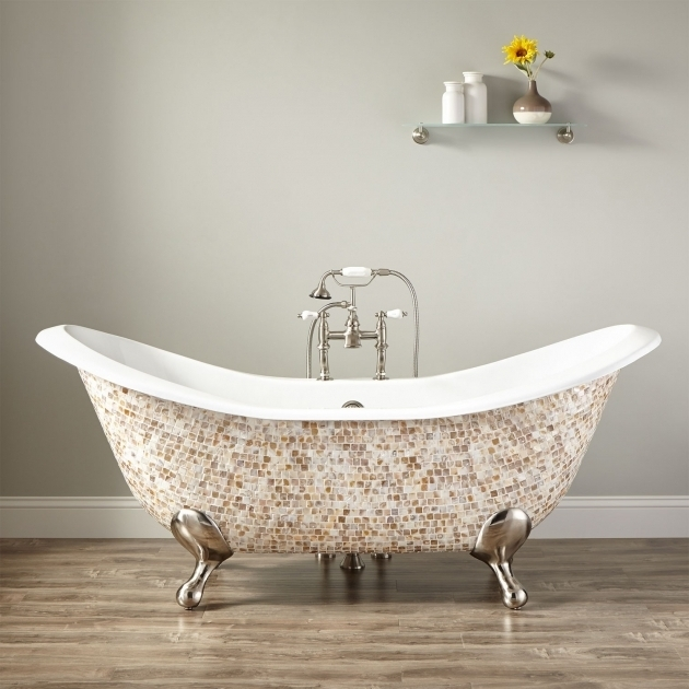 Awesome Modern Clawfoot Tub 71 Bellbrook Cast Iron Double Slipper Mosaic Clawfoot Tub