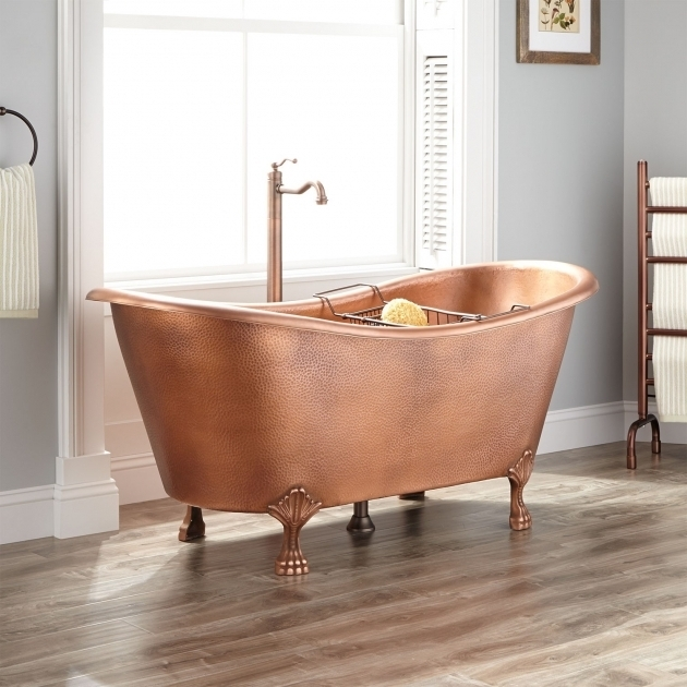 Beautiful Copper Clawfoot Tub Josette Copper Double Slipper Clawfoot Tub Bathroom