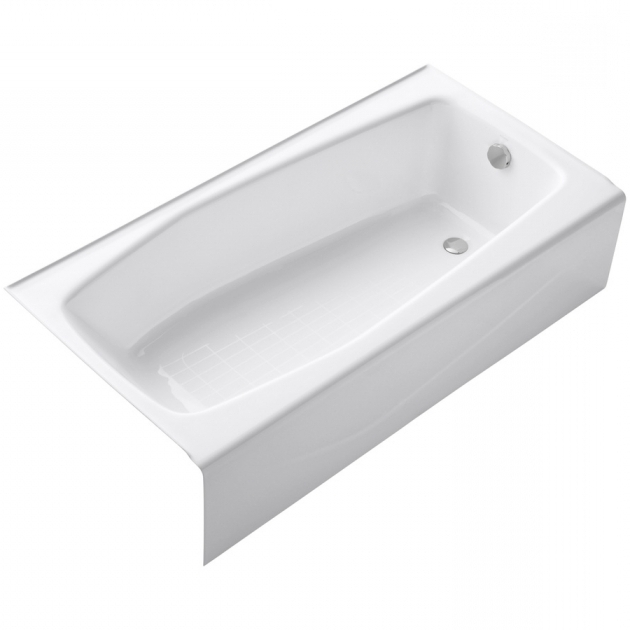 Fantastic Lowes Soaking Tub Shop Kohler Villager White Cast Iron Rectangular Skirted Bathtub