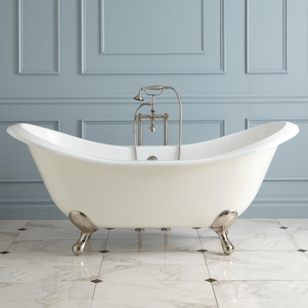 Fantastic Modern Clawfoot Tub 71 Gretta Cast Iron Double Slipper Clawfoot Tub Bathroom