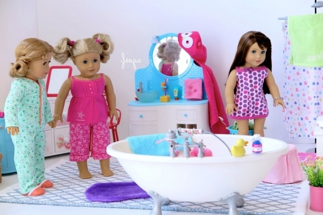 Fascinating American Girl Doll Bathtub American Girl Doll Bathroom Toilet Vanity Shower Bath Youtube