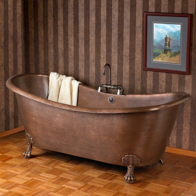 Gorgeous Copper Clawfoot Tub Bathroom Lovable Clawfoot Tubs For Awesome Bathrom Idea